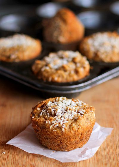 Muffins carote e mandorle