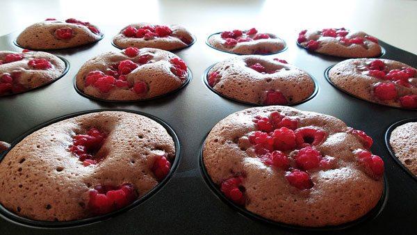 Muffins ai lamponi con semi di chia