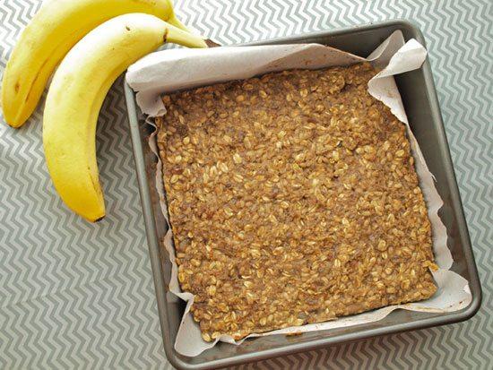 Barrette energetiche fai da te banana e avena