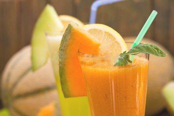 Succo di frutta melone menta e limone