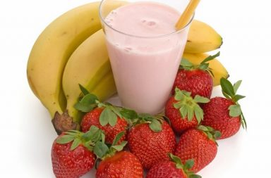 smoothie banana fragole