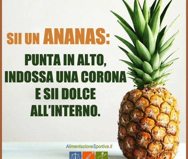 Ananas: allenamento e alimentazione sportiva corretta