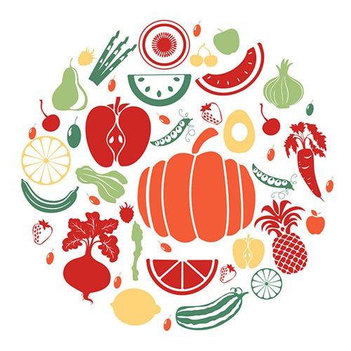 Mangiare frutta e verdura insieme