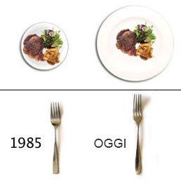 Piatti piccoli porzioni di cibo piccole