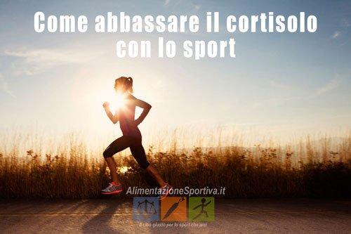 Come abbassare il cortisolo con lo sport
