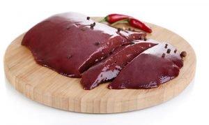 fegato di maiale ha un gran contenuto di ferro