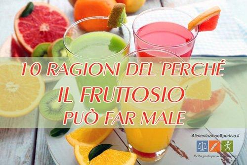 10 ragioni del perché il fruttosio può far male