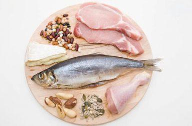 Le proteine possono essere trovate in carne, pollame, frutti di mare, latticini, uova e molti alimenti a base vegetale.