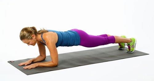 Esercizio plank sui gomiti