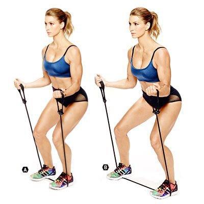Passi laterali con banda elastica
