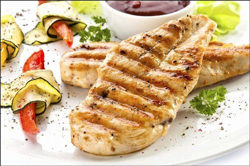come il pollo alla griglia è fatto per la dieta