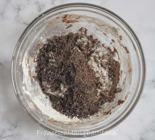 Impasto biscotti al cioccolato fondente senza burro