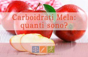 Carboidrati mela
