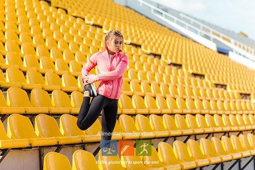 Stretching dei muscoli ischiocrurali
