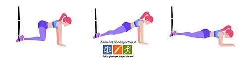Esercizio TRX plank